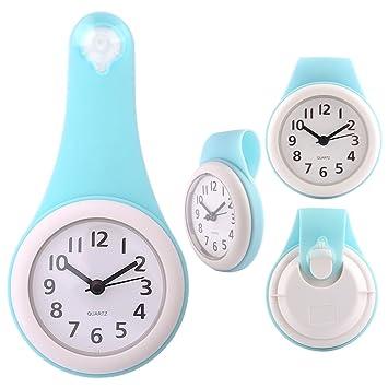 Badezimmeruhr mit Saugnapf, Teckpeak wasserdicht Uhr Badezimmer ...
