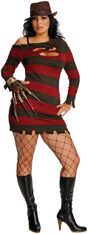 B-Creative Damen Miss Frotdie Krueger Halloween TV Film Fancy Kleid Kostüm-Outfit 14-18