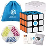 Coogam Gans 356 Air SM Speed Cube 3x3 Black Gan 356Air S Magnetic Puzzle Cube Gan356 with New GES V3 Spring (2019 Upgraded Version)