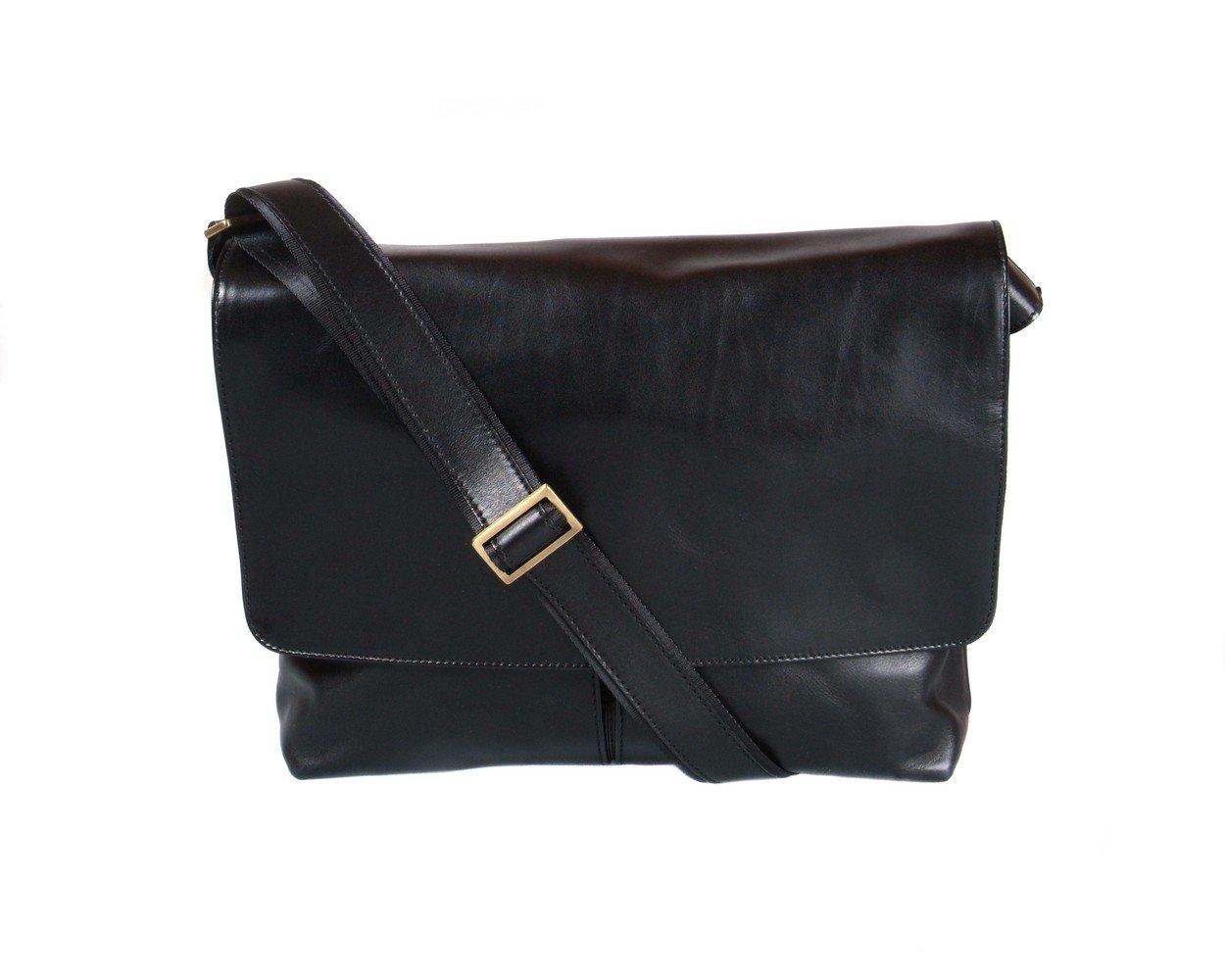 SAGEBROWN Black Courier's Bag