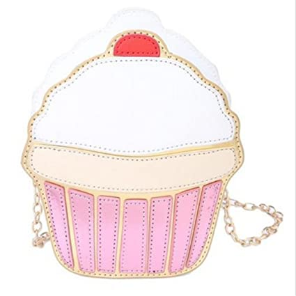 9c258a0f1ab91 Image Unavailable. Image not available for. Color  TraveT Women Ice Cream  Cup cake Design Shoulder Mini Crossbody Bag ...