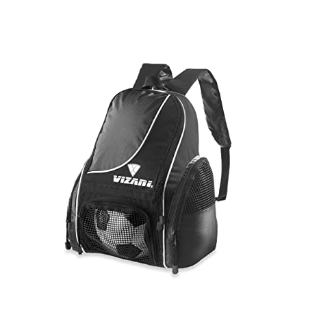 386c41091b Amazon.com   Vizari Solano Soccer Backpack (Black)   Soccer Ball ...