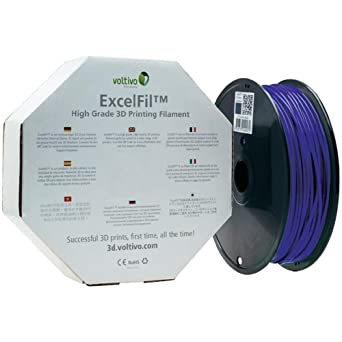 Voltivo ExcelFil EF-PLA-175-OBLUE - Hilo para impresora 3D (1,75 ...