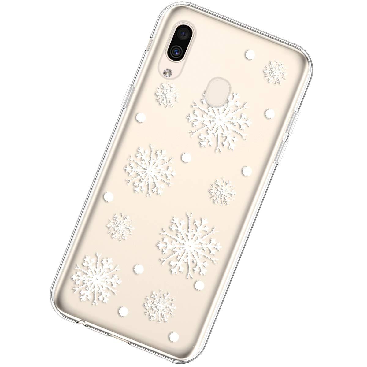 Uposao Kompatibel mit Samsung Galaxy A40 Silikonh/ülle Christmas Durchsichtig Weiche TPU Handytasche Transparent Ultra D/ünn Klar Crystal Clear Bumper Backcover,Weihnachten Haustier
