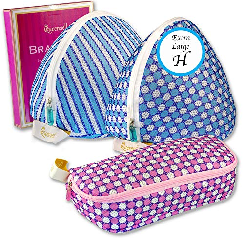 - Queensell Extra Large Bra Wash Bag Set of 3 Mesh Laundry Bags for Bras & Panties