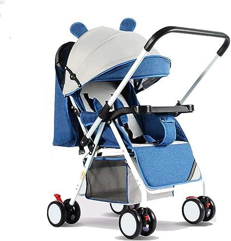 Opinión sobre FFAN Travel System 3 en 1 Cochecito Combinado Buggy Cochecito para bebés y niños Cubierta para la Lluvia Que mira hacia atrás o hacia adelante Mosquitera Soporte para Botellas Plegable, Azul-OneSize
