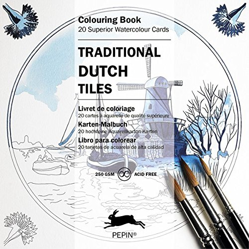 (Traditional Dutch Tiles (Colouring Cards) (English, Spanish, French, Italian and German Edition))