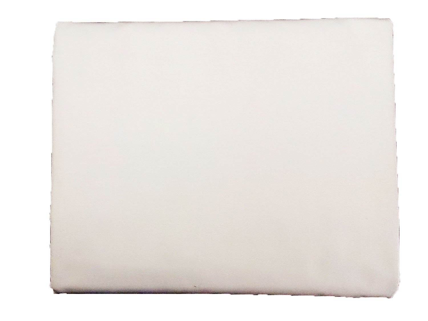 Solid White, Twin XL Size Flat Bed Sheet (66x104), 1-Piece, 200 Thread Count Poly-Cotton Blend, Luxurious Hotel Quality, Great For College Dorms, Elegant, Breathable, and Durable By- Pacific Linens by Pacific Linens (Image #2)