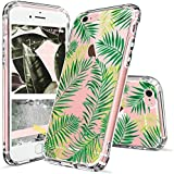 iPhone 6s Plus Case, Fashion iPhone 6 Plus Case, MOSNOVO Tropical Palm Leaves Clear Design Transparent Plastic Back Case with TPU Bumper Protective Case Cover for Apple iPhone 6/6s Plus (5.5 Inch)