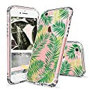 iPhone 6s Case, Fashion iPhone 6 Case, MOSNOVO Tropical Palm Leaves Clear Design Printed Transparent Plastic Hard Back Case with Soft TPU Bumper Protective Case Cover for Apple iPhone 6/6s (4.7 Inch)