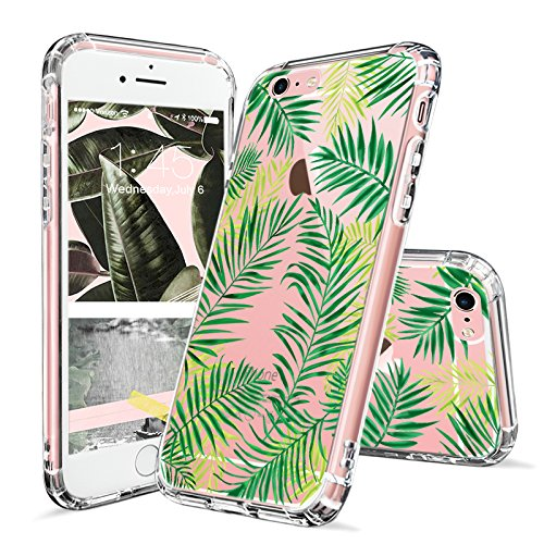 Price comparison product image iPhone 6s Case, Fashion iPhone 6 Case, MOSNOVO Tropical Palm Leaves Clear Design Printed Transparent Plastic Hard Back Case with Soft TPU Bumper Protective Case Cover for Apple iPhone 6/6s (4.7 Inch)