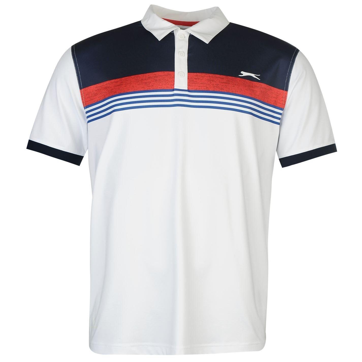 Slazenger Hombre Estampa Polo Camisa Camiseta Deporte Entrenar Top ...