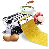 P YU3 in 1 Stainless Steel Pasta Maker Noodle Making Dough Roller Cutter Machine Hand Crank and Clamp for Spaghetti and Lasagna Tagliatelle Fettuccine