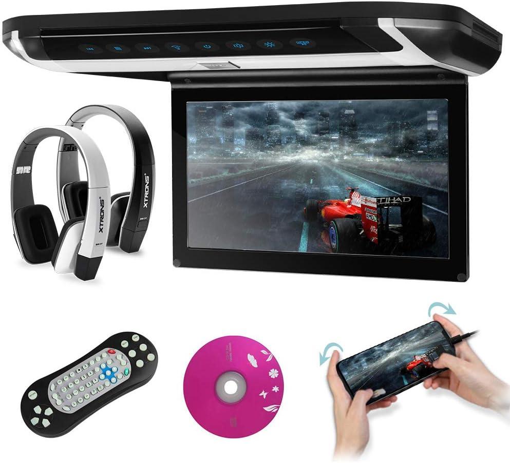 Xtrons 10 Inch HD Digital Monitor Car Roof Flip Down Overhead DVD Player