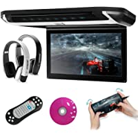XTRONS 10 inch HD Digital TFT Monitor Car Roof Flip Down Overhead DVD Player Touch Panel Game Disc with HDMI Port(Built…
