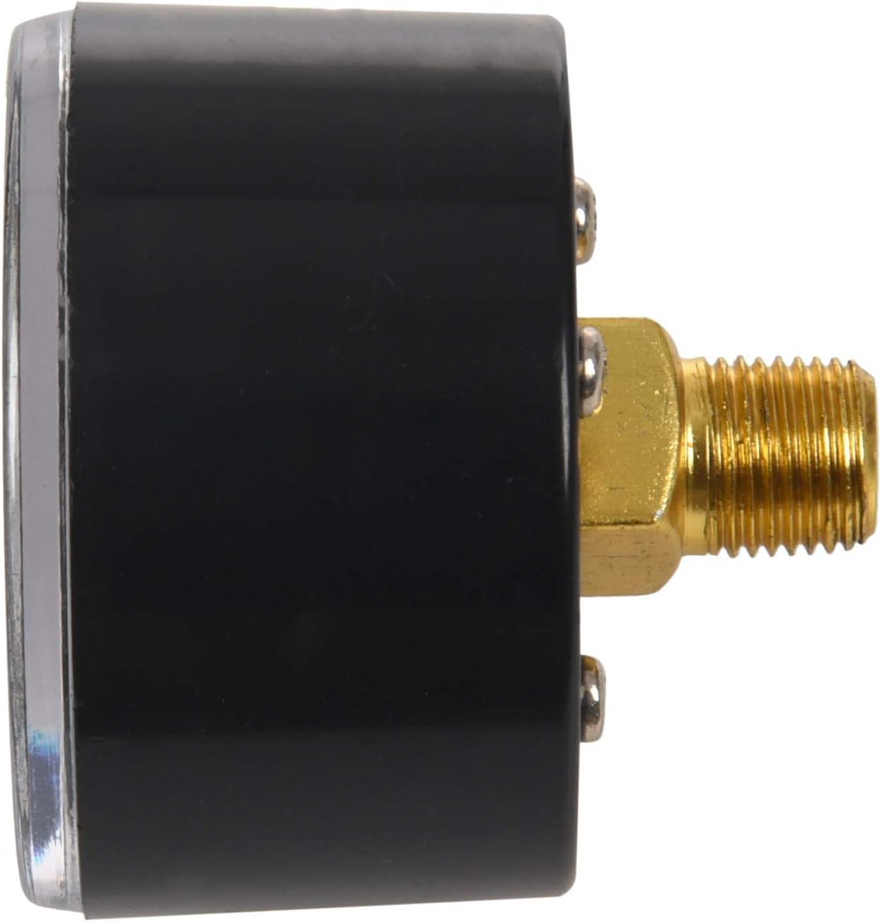 WOVELOT 1//8ZG Manom/ètre de pression pour compresseur dair 1//8ZG 0-180PSI 1-11BAR Transparent//noir