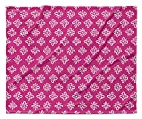 KAVKA DESIGNS Boom Boom Fleece Blanket, (Pink/White) - TRUDYBOOM Collection, Size: 80x60x1 - (TELAVC025VPL)