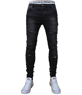 G W28 Jeans Herren 70lf03 W36w29 Bikerjeans Rag Hose Schwarz E2H9IWD