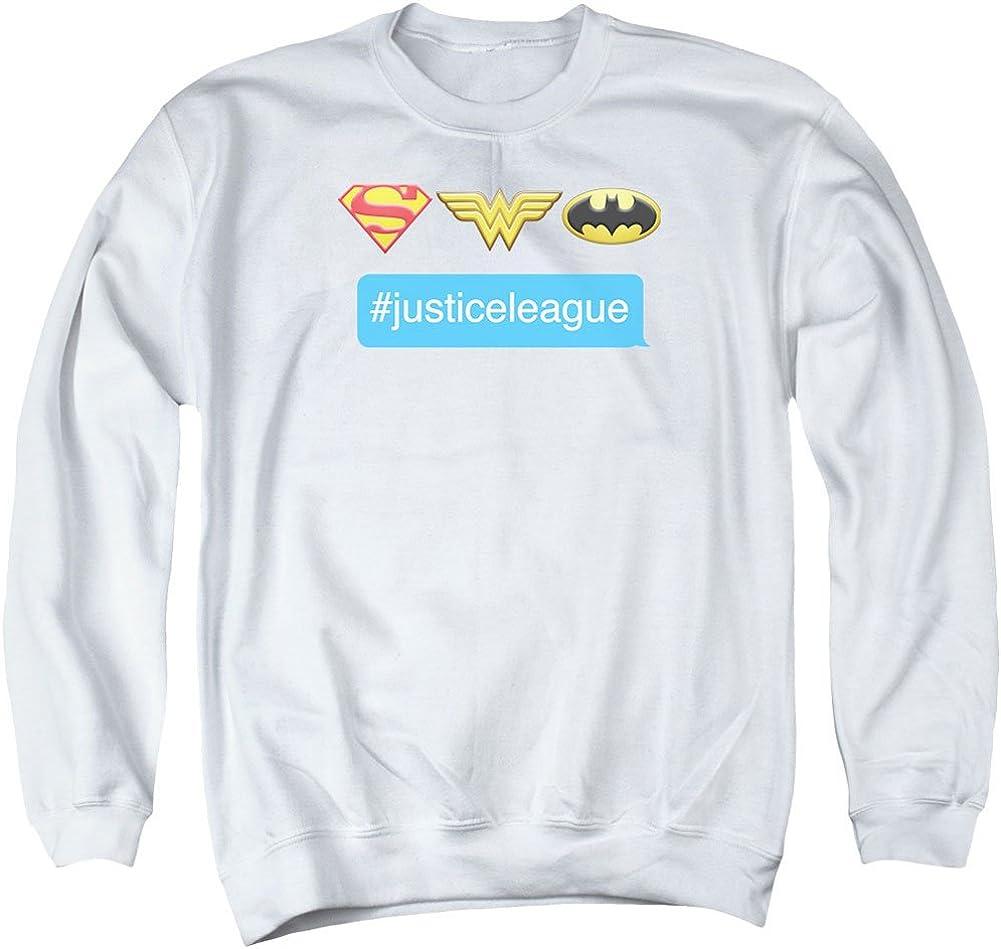 Dc Mens Hashtag Jla Sweater