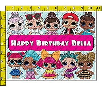 Lol Surprise Doll Edible Frosting Image 1 4 Sheet Cake Topper