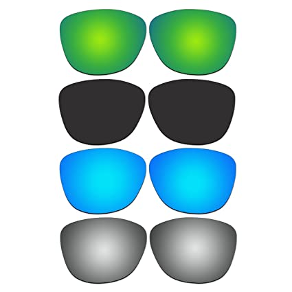 f974150225 Amazon.com  ACOMPATIBLE 4 Pair Replacement Polarized Lenses for Oakley  Frogskins Sunglasses Pack P5  Sports   Outdoors