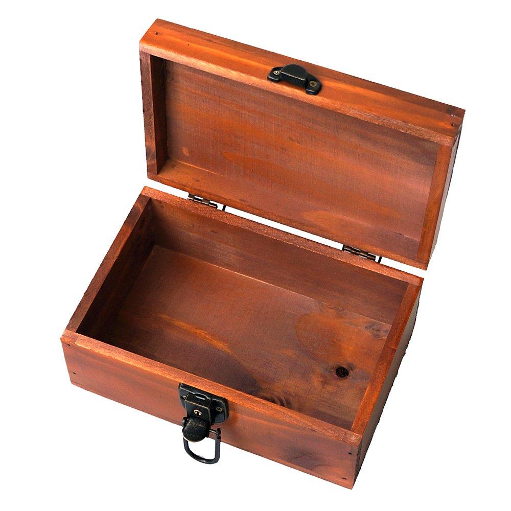 Awerise Personalized Wooden Keepsake Box w//Lock Key Bridesmaid Box Custom Jewelry Box Mother Girlfriend Gift
