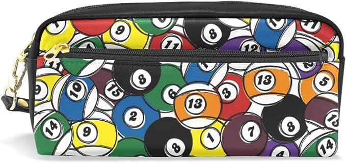 Estuche para lápices de gran capacidad con números coloridos para bolígrafos de billar, bolsa de papelería con ...