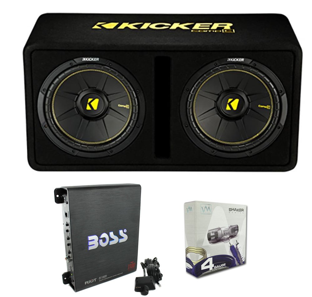 Kicker 44DCWC122 12'' 1200W Car Audio Subwoofer Sub Enclosure+Mono Amplifier Amp