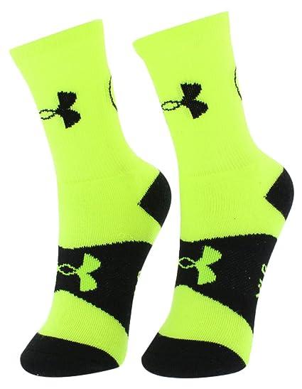 Under Armour Kids rendimiento calcetines de Batman Símbolo, neón verde/negro, jóvenes grandes