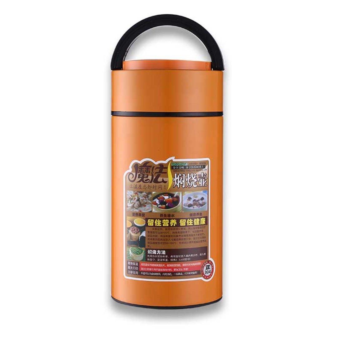 Thermosステンレスキング16 Ounce Food Jar with Folding Spoon ,ミッドナイト 1000ml オレンジ  オレンジ B077L7TP2X