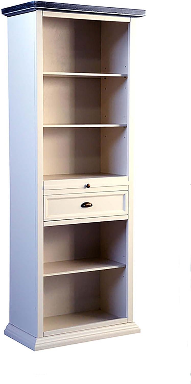 Legno&Design Estantería Mueble salón 5 estantes 2 cajones de Madera: Amazon.es: Hogar
