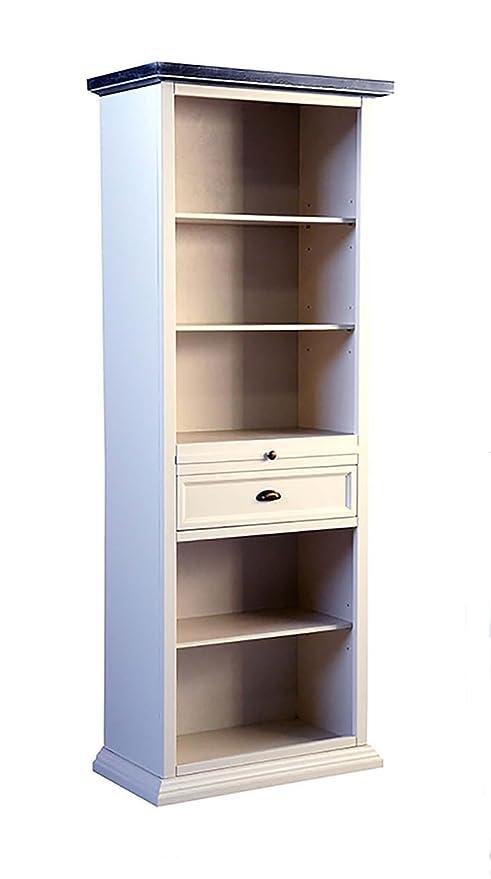 Legno&Design Estantería Mueble salón 5 estantes 2 cajones de ...