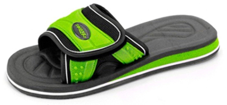 F3331 Mens XL Slides Flip Flop Sandal Athletic Shoes Gray//Orange