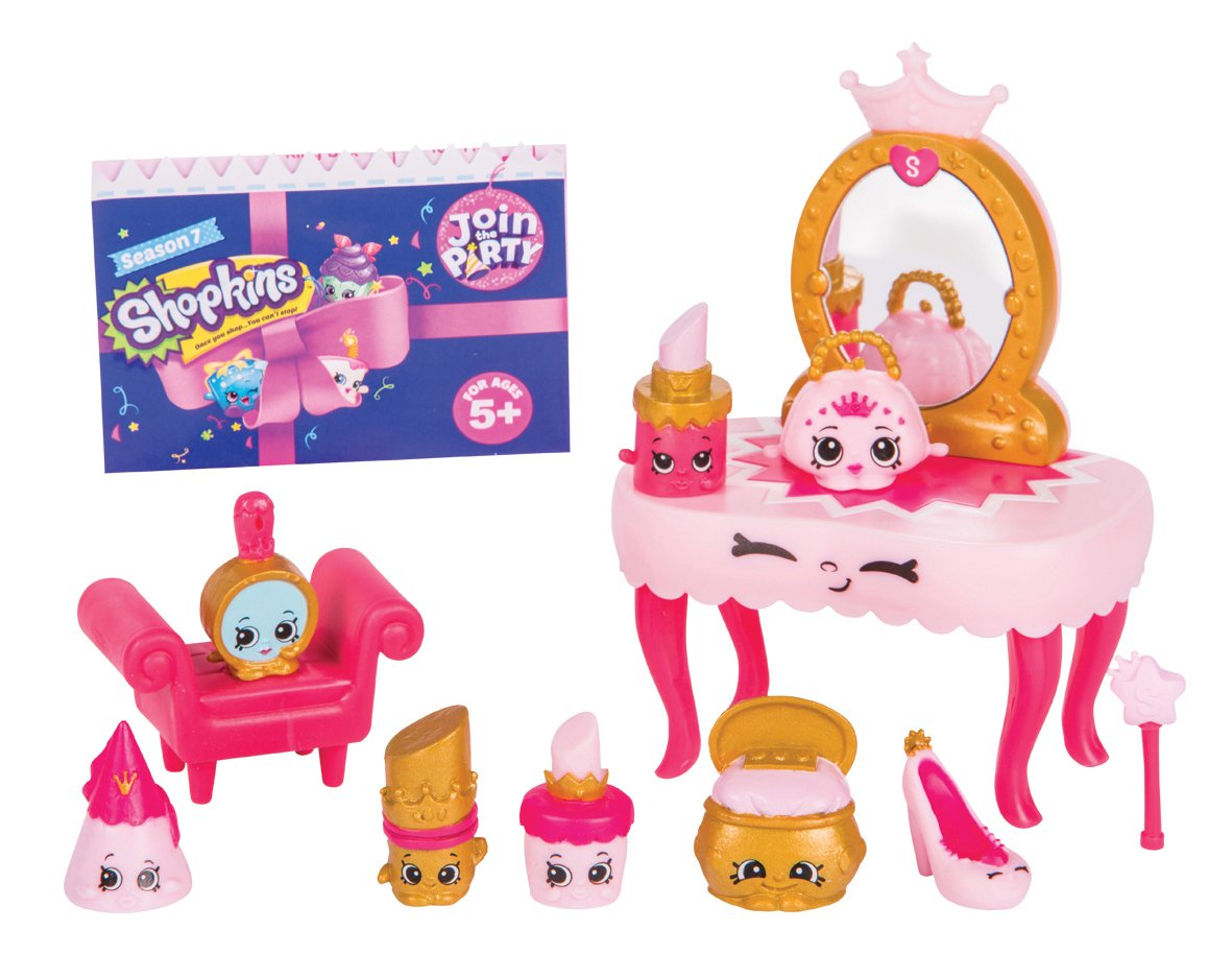 Set Princesse Princess Party 8 Mini Personnages Accessoire Shopkins