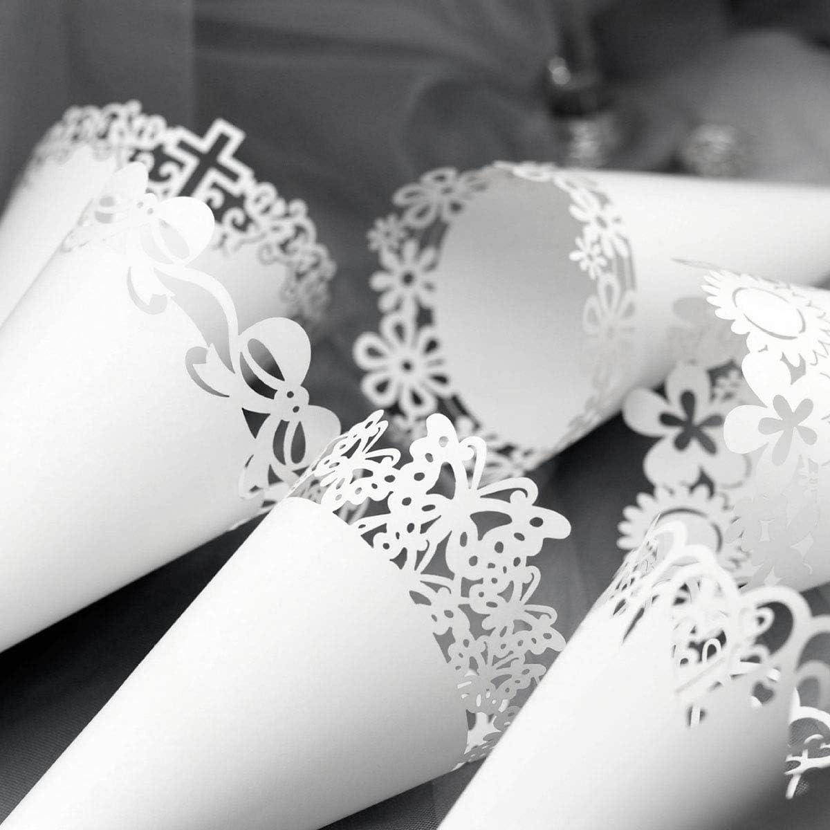 d/ía de San Valent/ín asperja Decorativa para Aniversario de Boda 0.8x0.6in HERCHR 500 Piezas de Confeti de Esponja en Forma de coraz/ón Blanco