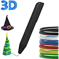 Pen 3D, 3D pen for Kids, New Educational 3D Toy PLA ABS Filament, 3D DIY Toys with Free 1.75mm PLA ABS Filament, LCD Screen Support Portable Power