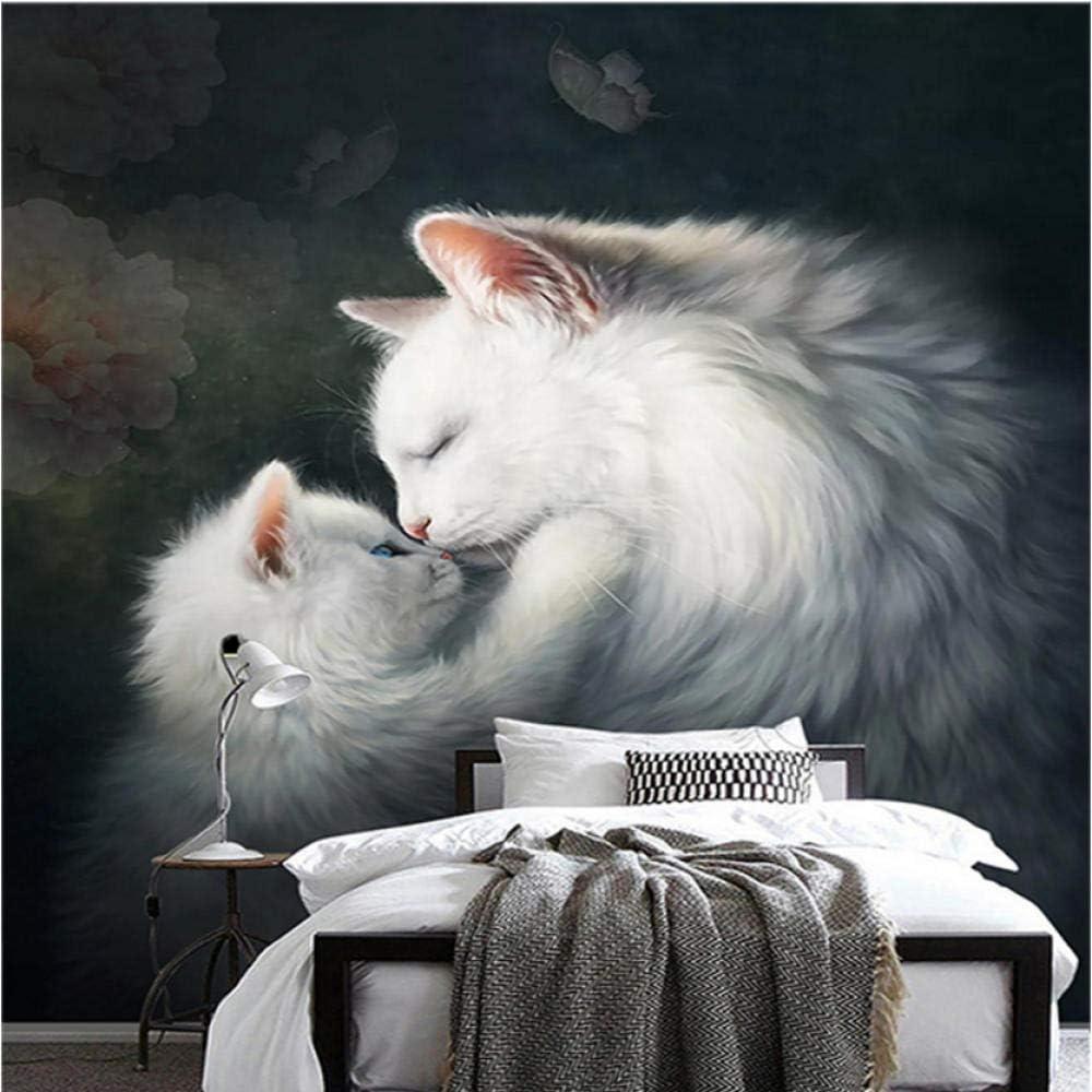Papel tapiz de foto personalizado Gatos 3D Murales de animales ...