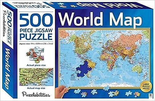 Puzzlebilities world map 500 piece jigsaw puzzle amazon puzzlebilities world map 500 piece jigsaw puzzle amazon 9781743633434 books gumiabroncs Gallery