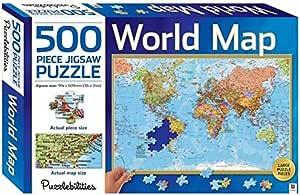Puzzlebilities World Map: 500 Piece Jigsaw Puzzle