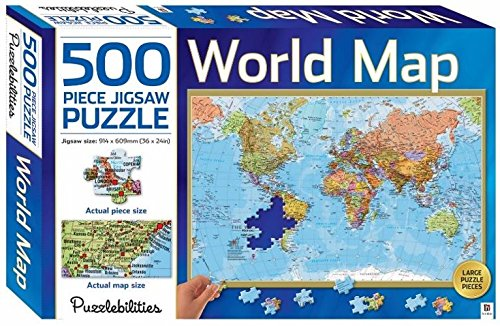 Puzzlebilities world map 500 piece jigsaw puzzlemalaysia online puzzlebilities world map 500 piece jigsaw puzzle malaysia online bookstore gumiabroncs Gallery
