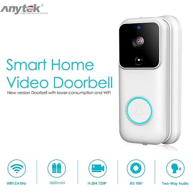 Amazon.com: Timbre de puerta de vídeo WiFi, inalámbrico ...