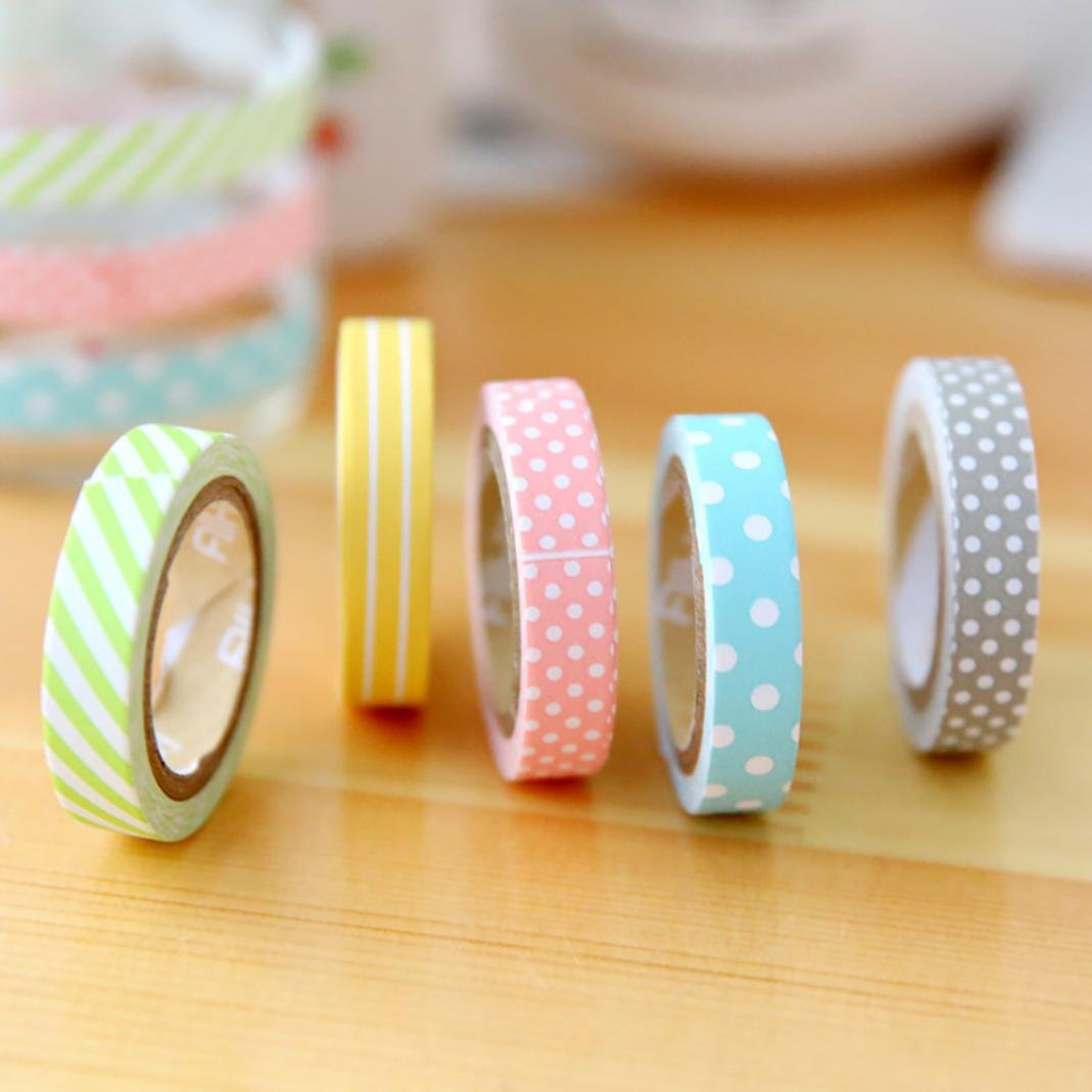 Dot Pattern Washi Tape Adhesive Wide DIY Masking Tape Decorative Sticker Tape for Gift Wrapping Scrapbooking DIY Craft Festival Gift Wrapping Beautify Bullet Journals,Planner