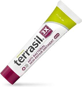 Antibacterial Skin Repair MAX 3X Faster Natural Ingredients for Treatment of Fissures Folliculitis Angular Cheilitis Impetigo Chilblains Lichen Sclerosus Boils Cellulitis by Terrasil (14gm)