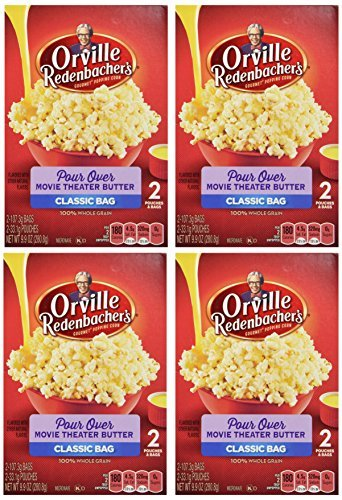 Orville Redenbacher, Pour Over Movie Theater Butter Popcorn, 9.9oz Box (Pack of 4) by Popcorn (Orville Pour Over compare prices)