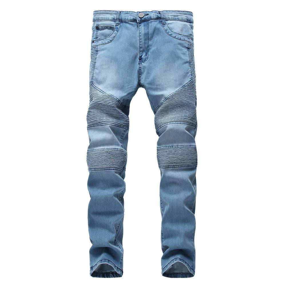 Spbamboo Mens Skinny Stretch Denim Pants Ripped Vintage Slim Fit Jeans Trousers