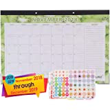 "LIKU Large Desk Wall Calendar 2018 2019-17""x12""- Monthly from November 2018 to December 2019 - Big Table Office Family…"