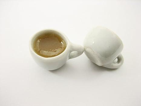 Dollhouse Food Miniature Drink Beverage 9 Black Coffee Ceramic Cups Mug #S 13411