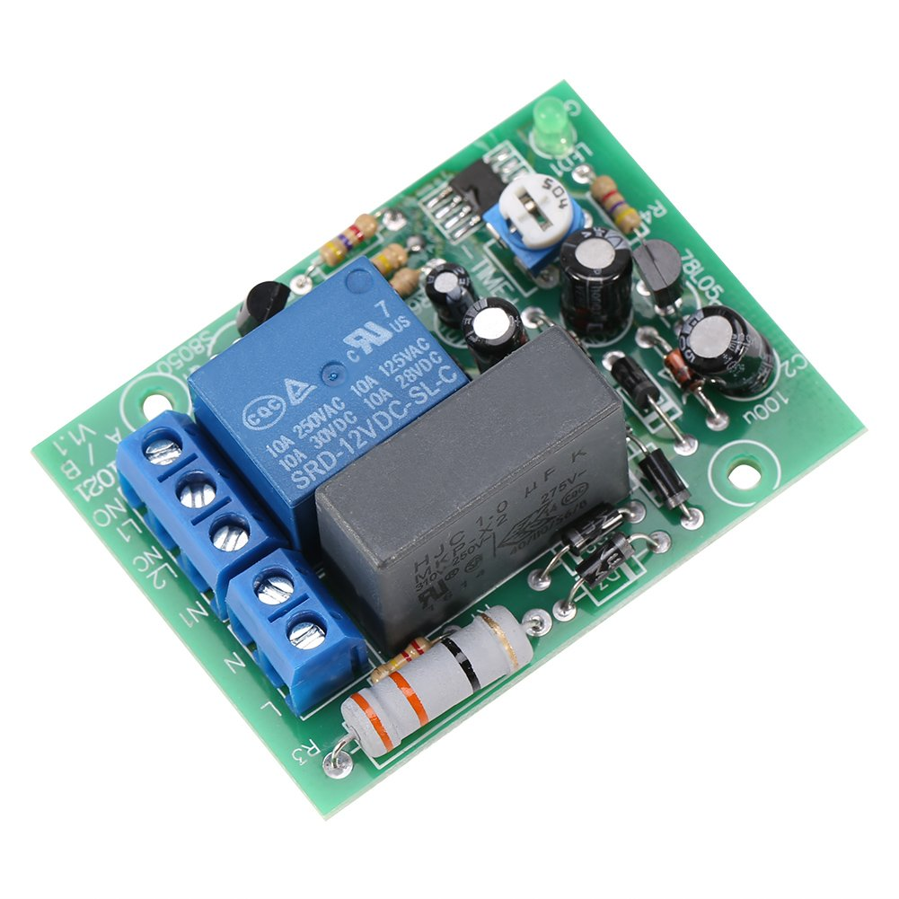 AC 220V Timing Delay Timer Relay Switch Time Delay Turn OFF Relay Module(0~10min Delay Time)