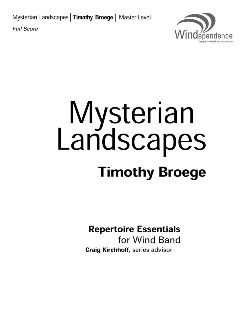 Download Boosey and Hawkes Mysterian Landscapes (Score and Parts) Concert Band Composed by Timothy Broege pdf
