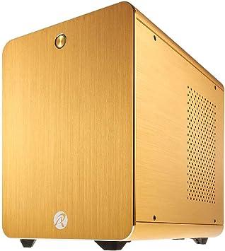 RAIJINTEK METIS Classic Cubo Oro - Caja de Ordenador (Cubo, PC, Aluminio, SPCC, Oro, Mini-ITX, 16 cm): Amazon.es: Informática